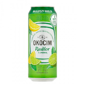 Picture of Beer Okocim Radler Lemon Can 2% Alc. 0.5L (Case=24)